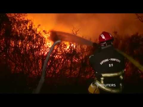 Firefighters continue to battle wildfires while civilians are evacuated to shelters