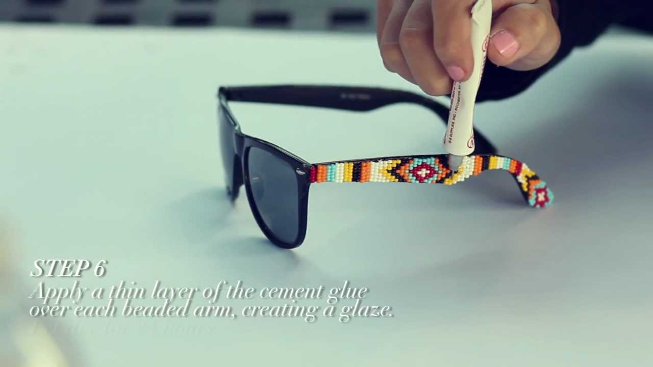d i y  mosley tribes beaded sunglasses