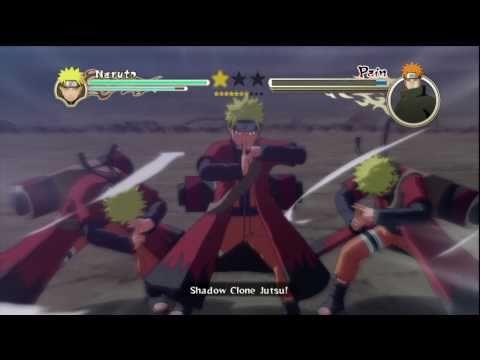 Naruto Shippuden: Ultimate Ninja Storm 2 - Sage Naruto/6-Tails vs Pain Pt 1/2 HD