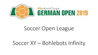 RoboCup German Open 2019 - Soccer Open: Soccer XY - Bohlebots Infinity (18:0)