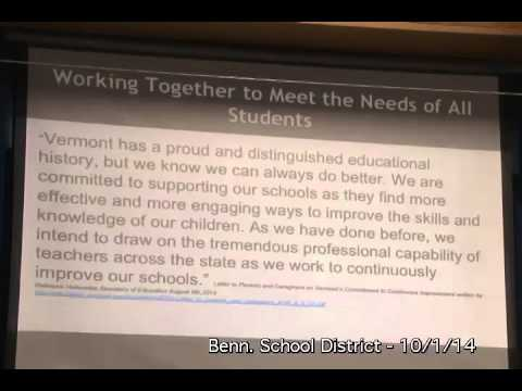 Bennington School District Board - 10/1/14