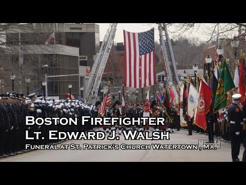 Thousands Attend Boston Firefighter Lt. Edward Walsh Funeral