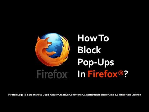 How to Block Pop-Ups in Firefox