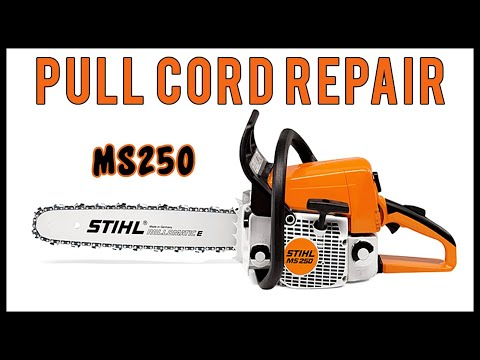 Pull Cord Repair On Stihl MS250 Chainsaw
