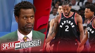 Kawhi Leonard 'has to trust' his Raptors teammates more — Stephen Jackson | NBA | SPEAK FOR YOURSELF