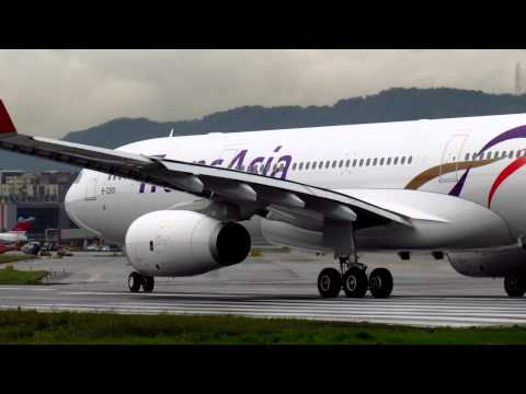 復興航空TransAsia New Aircraft A330-300 B-22101 Training Flight Take off (TSA-KHH) RWY10
