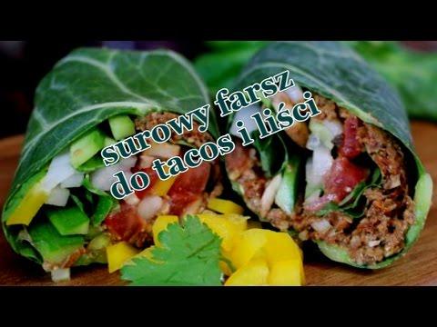 Surowy Farsz Do Tacos Lub Liści -  Zdrowa Przystawka Do Pracy Na Lunch