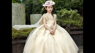 Beautiful New collection of baby girl gown dresses ;Kids latest Western wear design dress