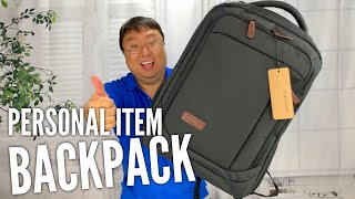 """This 17"""" Laptop Backpack Meets Most Airlines Personal Item Size Requirements"""