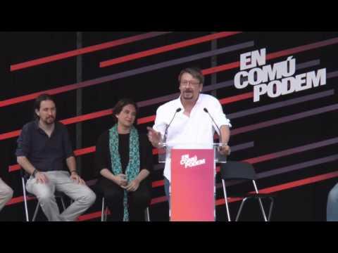 XAVI DOMENECH (En Comú Podem) - Mitin en BARCELONA (11/06/2016)