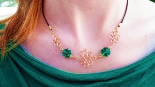 DIY Lucky Celtic Wire Knot Necklace | eclecticdesigns