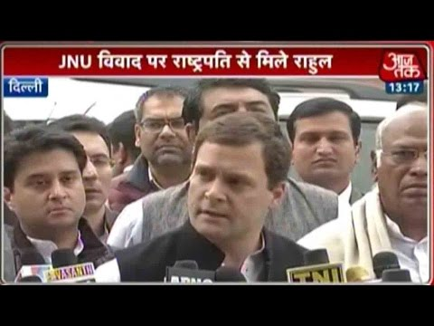 JNU Row: Rahul Gandhi Meets Pranab Mukherjee