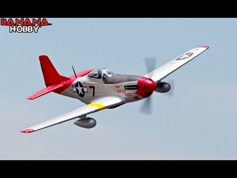 FMS P-51 Red Tail Flight Review with Special Tandem Flight
