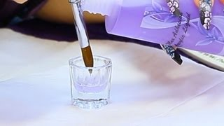 How to break-in a new Acrylic Nail Brush Tutorial Video by Naio Nails