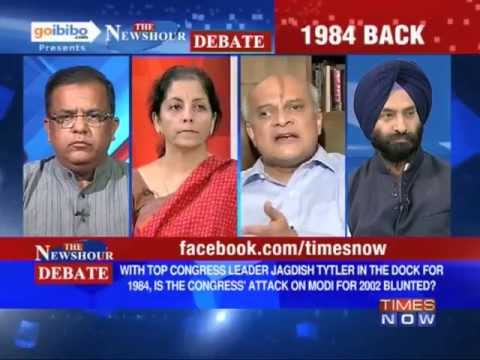 The Newshour Debate: Why was Jagdish Tytler given a clean chit for  '84 riots? (Part 2 of 3)