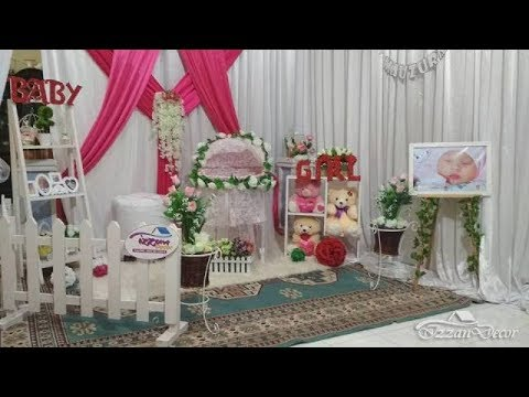Dekorasi Ruangan Acara Aqiqah Baby Raifa Mauzura Versi Izzan Decor Banda Aceh