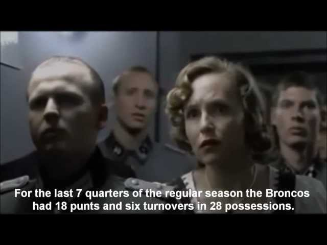 Hitler reacts to Tim Tebow beating the Pittsburgh Steelers in the AFC playoffs in OT