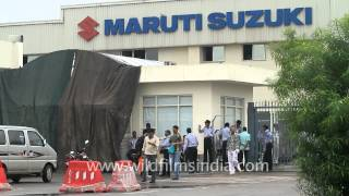 Heavy security at the Maruti Suzuki Manesar plant