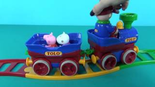 Peppa Pig in English. Peppa Pig and Suzy Sheep go skating. Peppa's leg stucks in rails