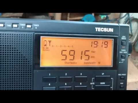 Tecsun PL 600 - Zambia NBC Radio 1 em 5915 khz em 49 metros (Ondas curtas)