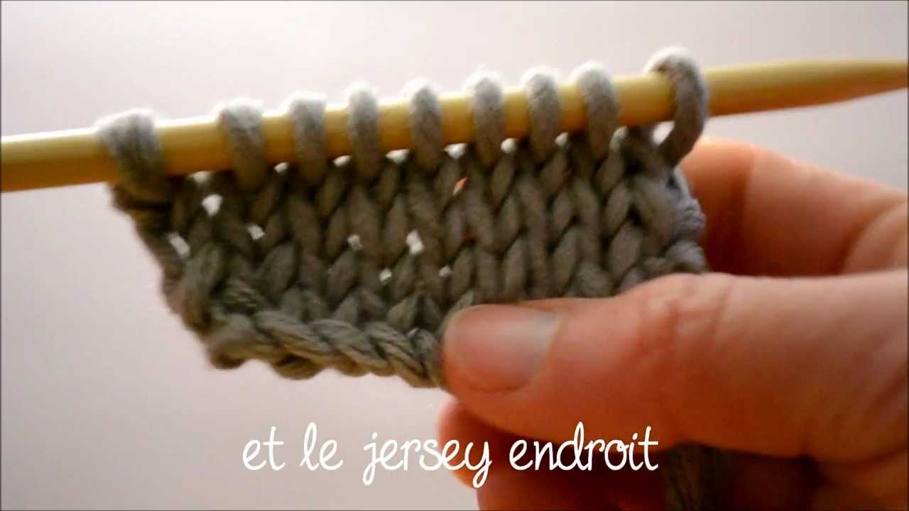 apprendre a tricoter point jersey