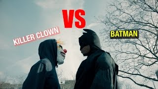 BATMAN VS KILLER CLOWN FIGHT!!!