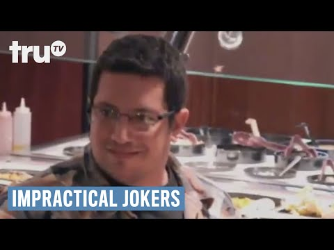 Impractical Jokers - Guys Steal Food Off People's Plates at Buffet