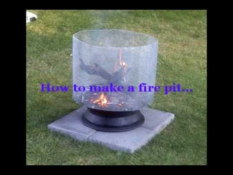how to build a fire pit using a satellite dish youtube. Black Bedroom Furniture Sets. Home Design Ideas