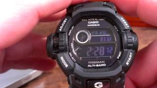 G9200BW-1 Riseman (Black) - Casio G-Shock Watch Review