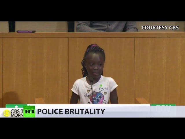 'We shouldn't feel like this': 9yo girl makes tearful appeal to end police violence in US