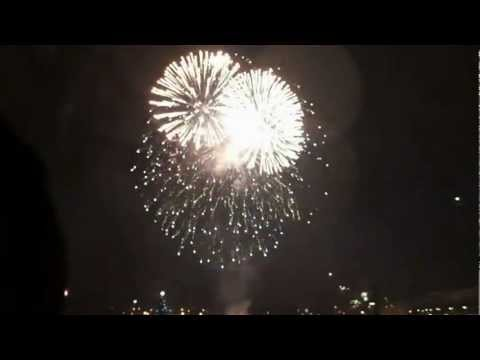 Silvester / new year firework 2012 - 2013 Hamburg Alster HD