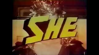 Ursula Andress in She 1965 TV trailer