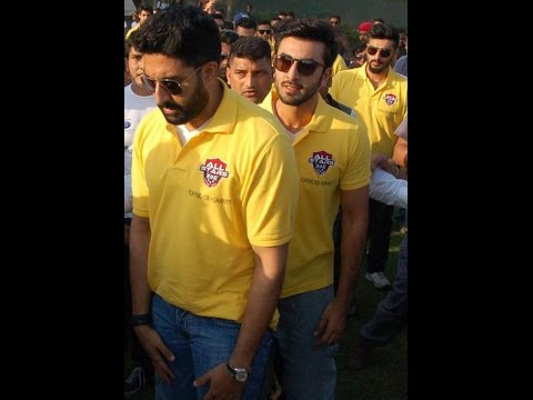 Abhishek, Ranbir and Arjun Kapoor play football!