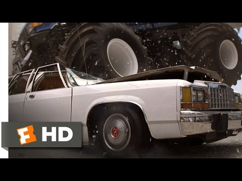 The Famous Scene With Monster Truck Smashing Cars In 1989