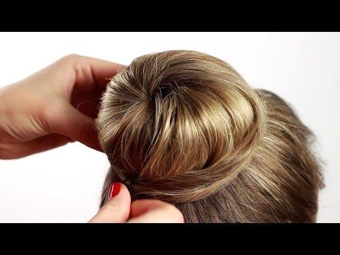 "Делаем прическу пучок с помощью валика ""Бублик"". Bagel Beam Hairstyle"