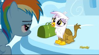 Gilda and Rainbow Dash at Junior Speedsters Flight Camp
