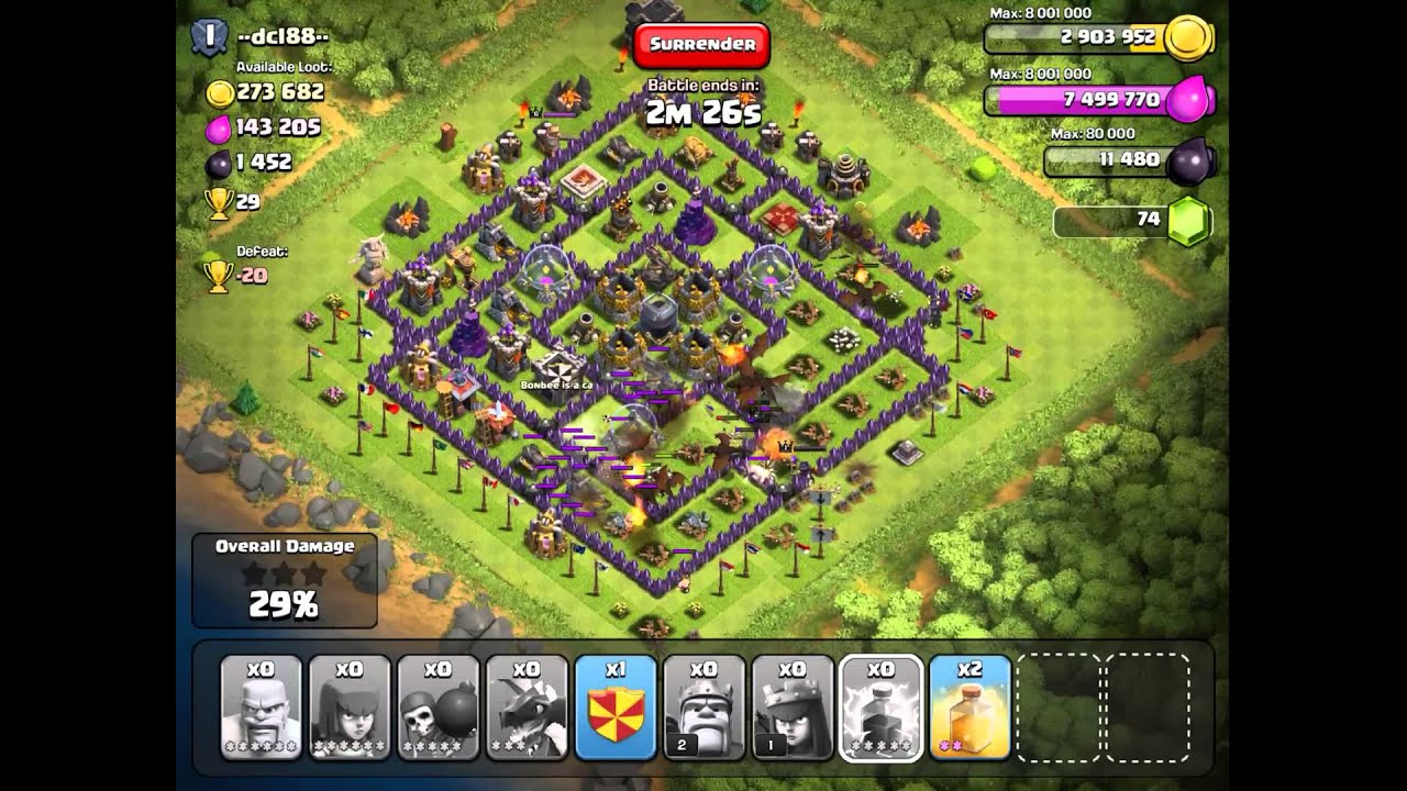 Clash of clans farming strategy for th8 ad th9 part 31 youtube
