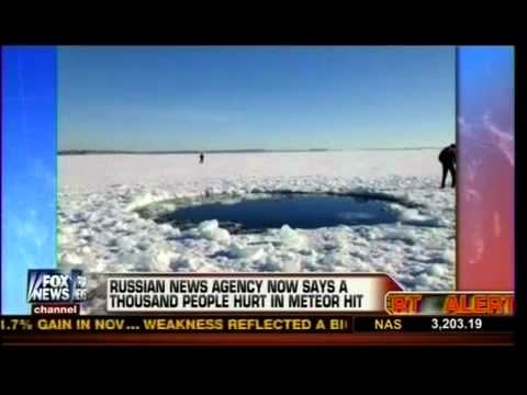 10,000 Ton Meteor Leaves Crater In Russian Lake - Feb 15, 2013
