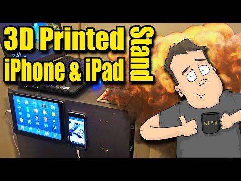 3D Printing Custom iPad & iPhone Wall Mounts - Get Organized