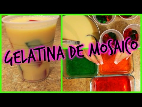 Como hacer gelatina de mosaico / How to make mosaic jello