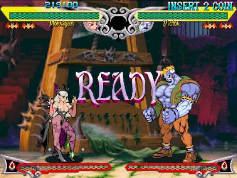 Vampire Savior - Morrigan Playthrough 1/2