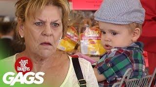 Cute Baby Butts into Random Shopping Carts