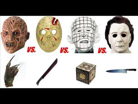 Freddy Vs Jason Vs Chucky Vs Michael Myers Vs Pinhead Freddy vs Jason vs Chucky vs