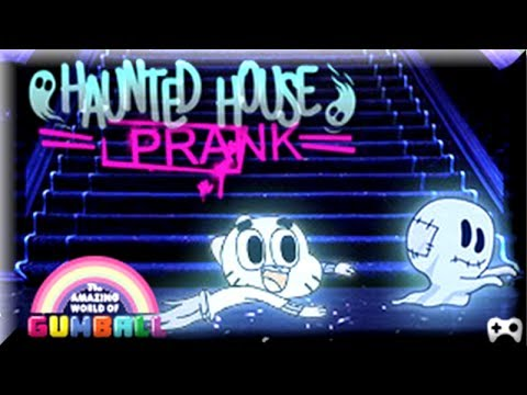Haunted House Prank -the Amazing World Of Gumball - Gumball Cartoon Game video