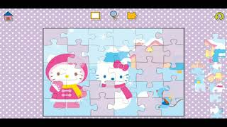 Hello Kitty Snowman Fun Jigsaw Puzzle Video For Kids Apps Gameplay