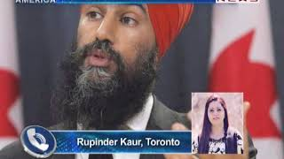 NDP Leader Jagmeet Singh Accepts Nomination for Burnaby Riding