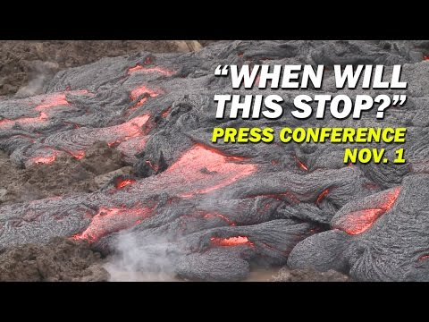 USGS HVO Answers Lava Questions at Press Conference - Nov. 1