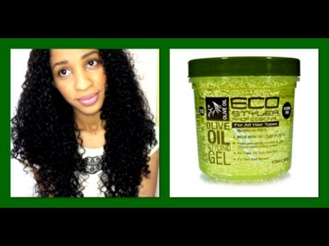 eco styler olive oil gel on curly hair review youtube