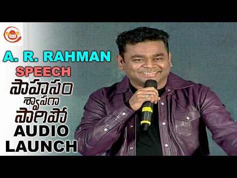 AR Rahman Speech at SSS Audio Launch Naga Chaitanya, Manjima Mohan || Gautham Menon