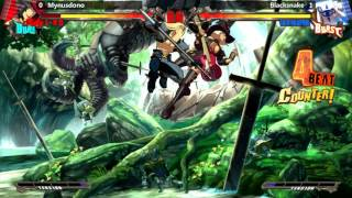 GGXrd @ TSB Invasion of EC - Mynusdono (I-No) vs Blacksnake (Venom) [720p/60fps]